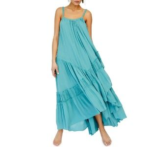 Free People Bare it All Maxi Dress in blue